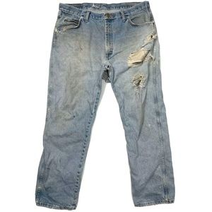 Wrangler Destroyed Grunge Goth Tears Rips 38Wx30L